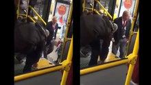Otobüsün engelli rampasını açmak istemeyen şoför tepki topladı!