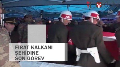 Fırat Kalkanı şehidine Kahramanmaraş'ta tören
