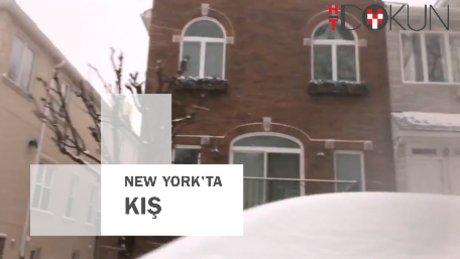 New York'tan kış manzaraları