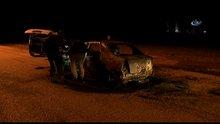 Adana'da taksiciyi dövüp, daha sonra aracını yaktılar