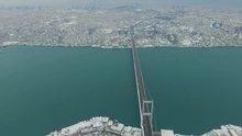 İstanbul'un beyaz örtüsü havadan görüntülendi