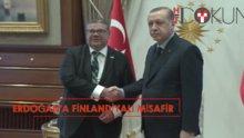 Erdoğan, Finlandiya Dışişleri Bakanı'nı kabul etti