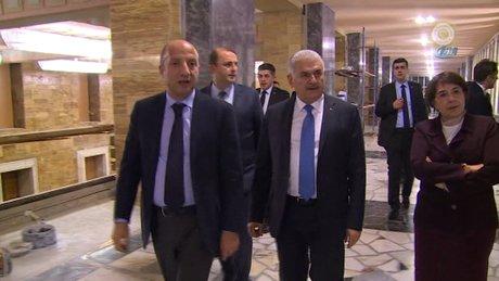 Başbakan Yıldırım TBMM'de zarar gören alanları inceledi