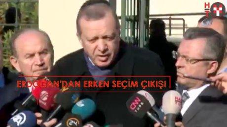 """Erdoğan'dan erken seçim çıkışı: """" Eğer parlamento..."""""""