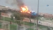 Gemlik'te bir kişi ısınmak için girdiği tekneyi yaktı