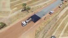 Yurtdışında yollar böyle asfaltlanıyor!