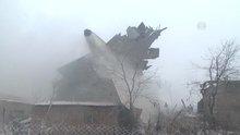Kırgızistan'da kargo uçağı düştü