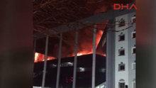 Kayseri'de korkutan yangın