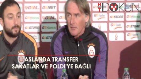 """Riekerink: """"Sakatlar ve Podolski'nin durumu transferde etkili olacak"""""""