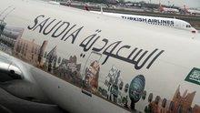 Suudi uçağına Kabe fotoğraflı tasarım