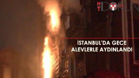 İstanbul'da yangın gecesi