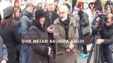 Dink'in mezarı başındaki anmaya Bakan Avcı da katıldı