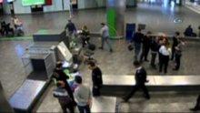 Atatürk Havalimanı'nda uyuşturucu operasyonu kamerada