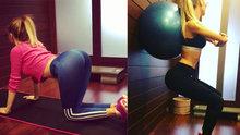 Cansu Taşkın'dan pilates dersi