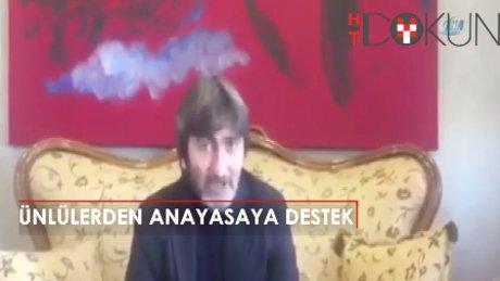 Ünlülerden anayasaya destek videoları