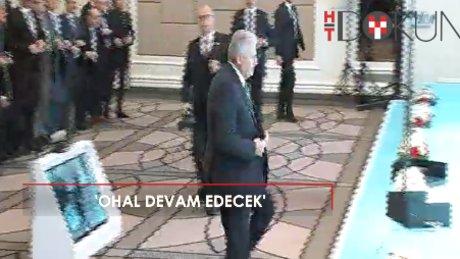 """""""Başbakan Yıldırım: """"Paralel yapılanmaya son vermek için, OHAL devam ediyor"""""""