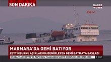 İstanbul'da gemi batıyor