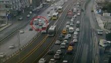 E-5'te makas atan sürücünün yol açtığı zincirleme kaza kamerada