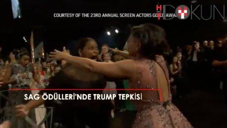 SAG Ödülleri'ne Trump'a protesto damga vurdu