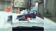 Dünyanın en ilginç arabası Trabzon'da yapıldı