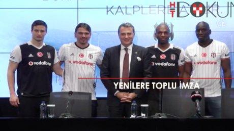 Beşiktaş'ta yeni transferlere toplu imza