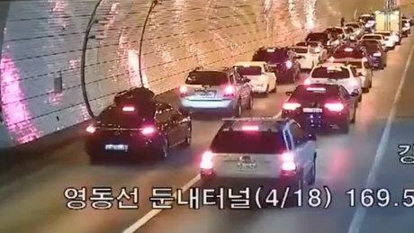 Güney Kore'de tünel kazası olursa...