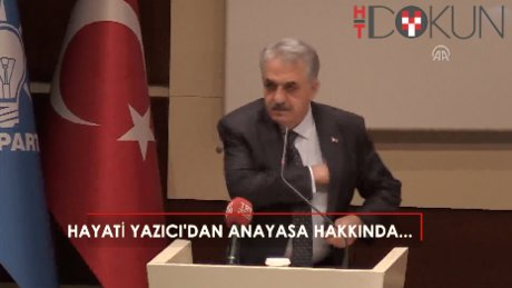Yazıcı AK Partililere anayasa için seslendi