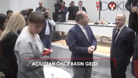 Sağlık Bakanı Akdağ, Mersin Şehir Hastanesini gazetecilerle gezdi