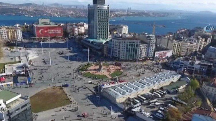 Taksim Camisinin Yapılacağı Yer Havadan Görüntülendi