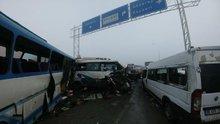 Konya'da zincirleme trafik kaza