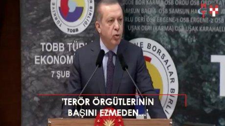 Cumhurbaşkanı Erdoğan: ''Bu milletin bileği bükülmez''