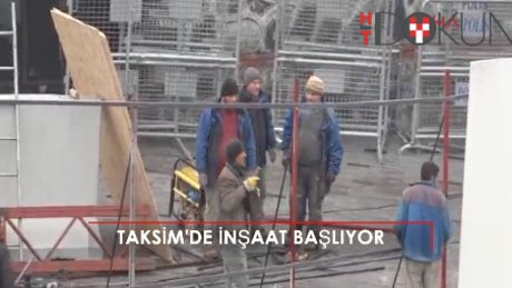 Taksim Camii için ilk kepçe