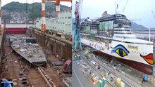 Cruise gemisi böyle inşa ediliyor