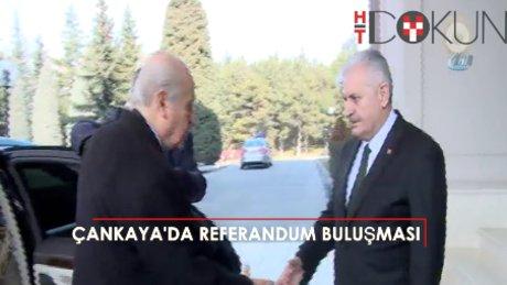 Başbakan ve Bahçeli'den 'referandum' buluşması
