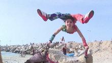 Gazzeli genç örümcek adam dünya rekoru kırdı