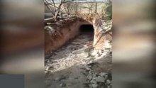 El Bab'ta DEAŞ'ın intihar tünelleri böyle görüntülendi