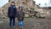 Çanakkale'de depremin merkez üssünden görüntüler