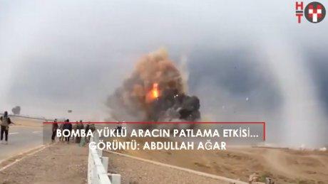 Bombalı araç işte böyle patlıyor!