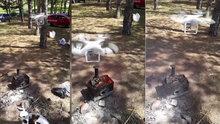Drone ile mangal körükleyen yurdum insanı