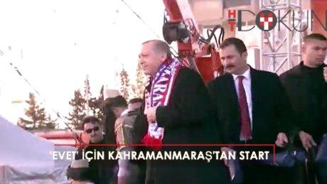 """Erdoğan: """"16 Nisan, Türkiye'de bir reformun gerçekleştiği akşam olacaktır"""""""