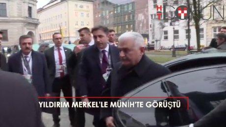 Yıldırım ve Merkel Münih'te görüştü