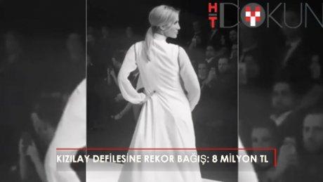 Defilede kızılay'a rekor bağış! 8 milyon TL