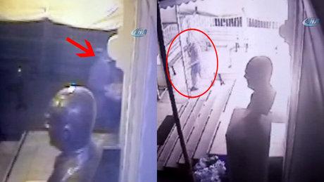 Müjdat Gezen Sanat Merkezine düzenlenen saldırı kamerada