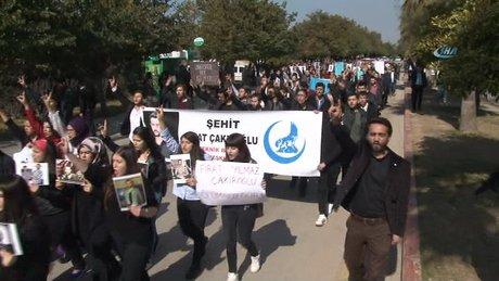 Üniversiteli gençler, Fırat Yılmaz Çakıroğlu için yürüdü