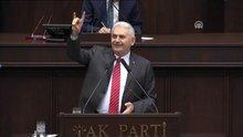 Başbakan Yıldırım'dan bozkurt işareti