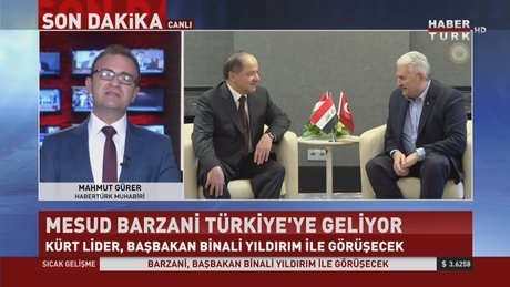 IKBY Başkanı Barzani Türkiye'ye geliyor