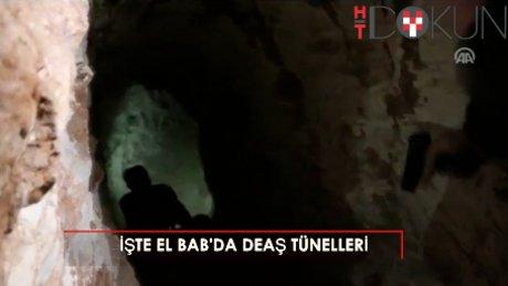 İşte El Bab'daki DEAŞ tünelleri!