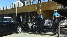 Bursa'da tekme tokat yol verme kavgası kamerada