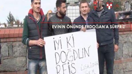 Cumhurbaşkanı Erdoğan'a doğumgünü sürprizi
