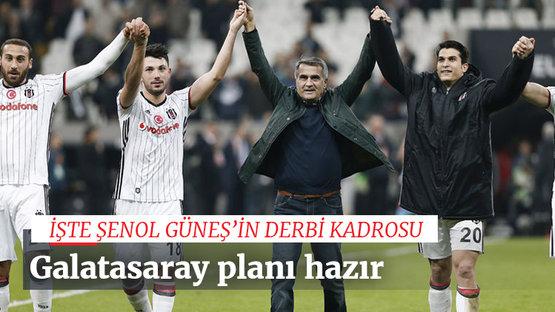 Beşiktaş'ta derbi kadrosu belli oluyor